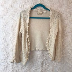 Anthropologie GUINEVERE small 100% wool cardigan